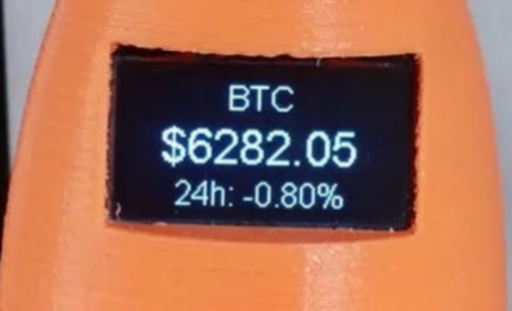 Cryptocurrency price ticker